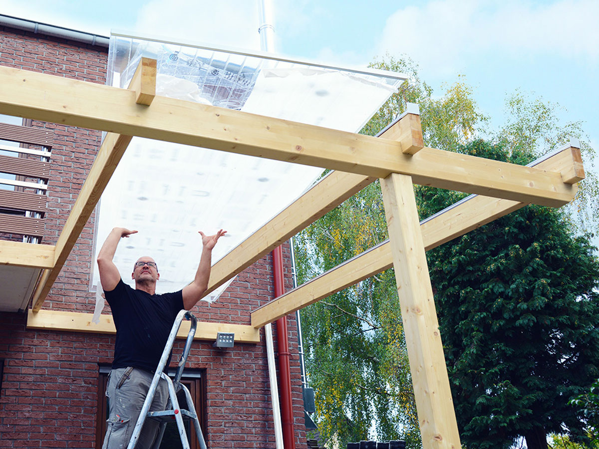 Vordach Aus Holz Und Glas Selber Bauen Selbermachen De