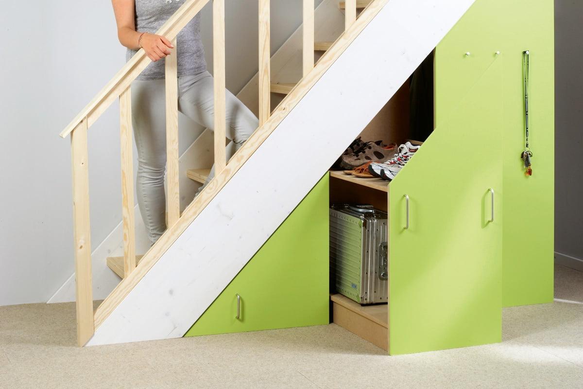 Zusatzlichen Stauraum Schaffen Im Schrank Unter Der Treppe