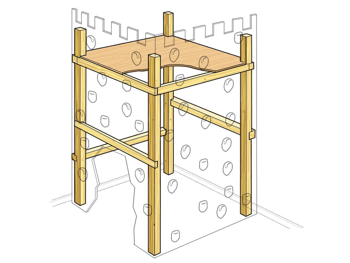 Kletterturm selber bauen Anleitung