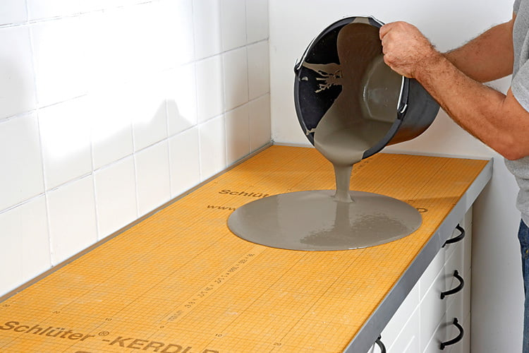 Küchen-Arbeitsplatte in Beton-Optik selber machen ...