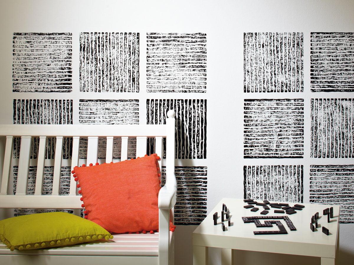 Wand Streichen Muster Selber Machen Streifen 6