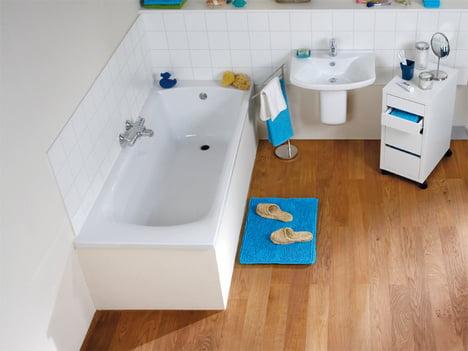 Echtholz Parkett Im Badezimmer Verlegen Selbermachen De
