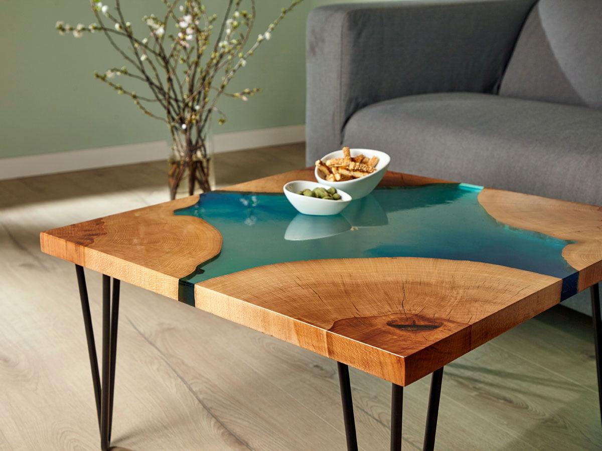 Epoxidharz Tisch Selber Bauen Gratis Anleitung Selbermachen De