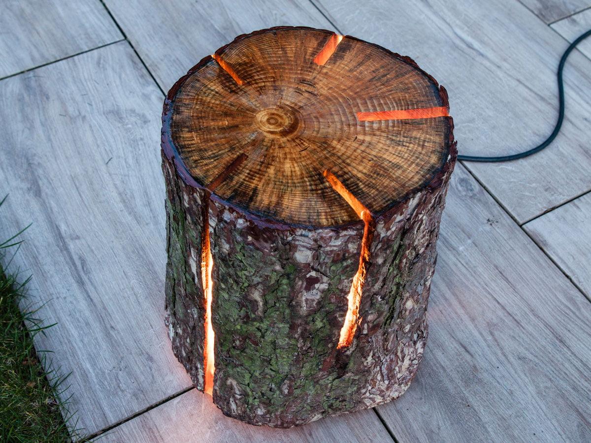 Lampe Aus Holzstamm Und Epoxidharz Gratis Anleitung