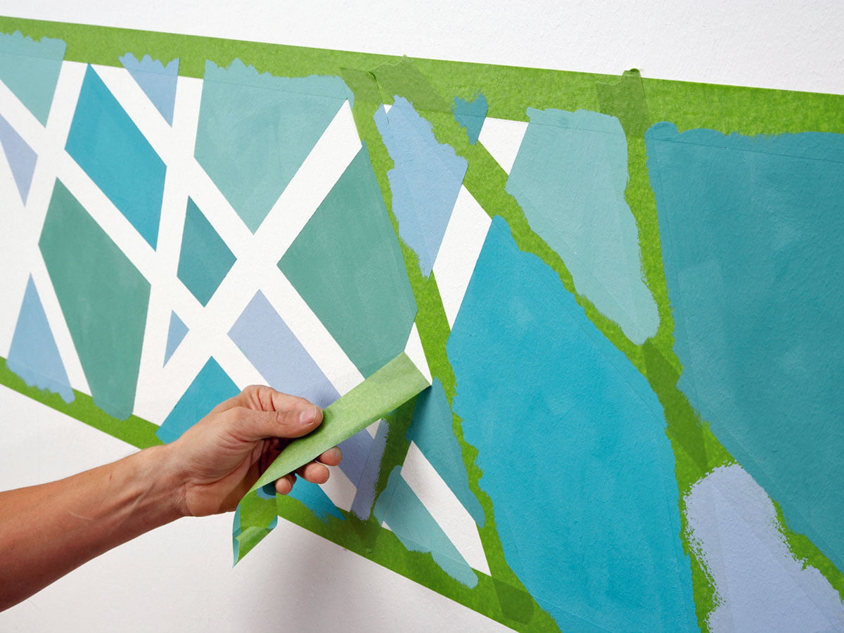 Wall Painting Pattern Yourself Making Checkerboard